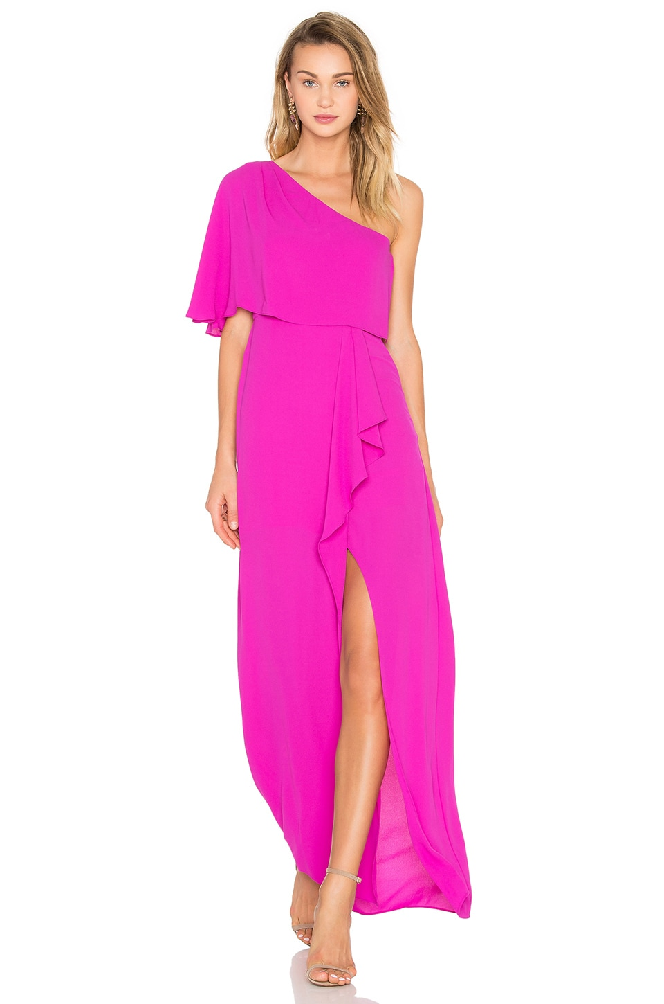 Secha One Shoulder Maxi Dress