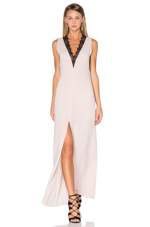 Lace Front Maxi Dress