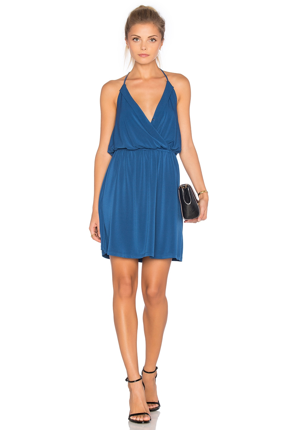 Halter Front Wrap Mini Dress
