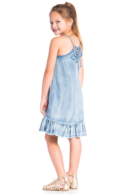 Ruffle Denim Dress in Next
