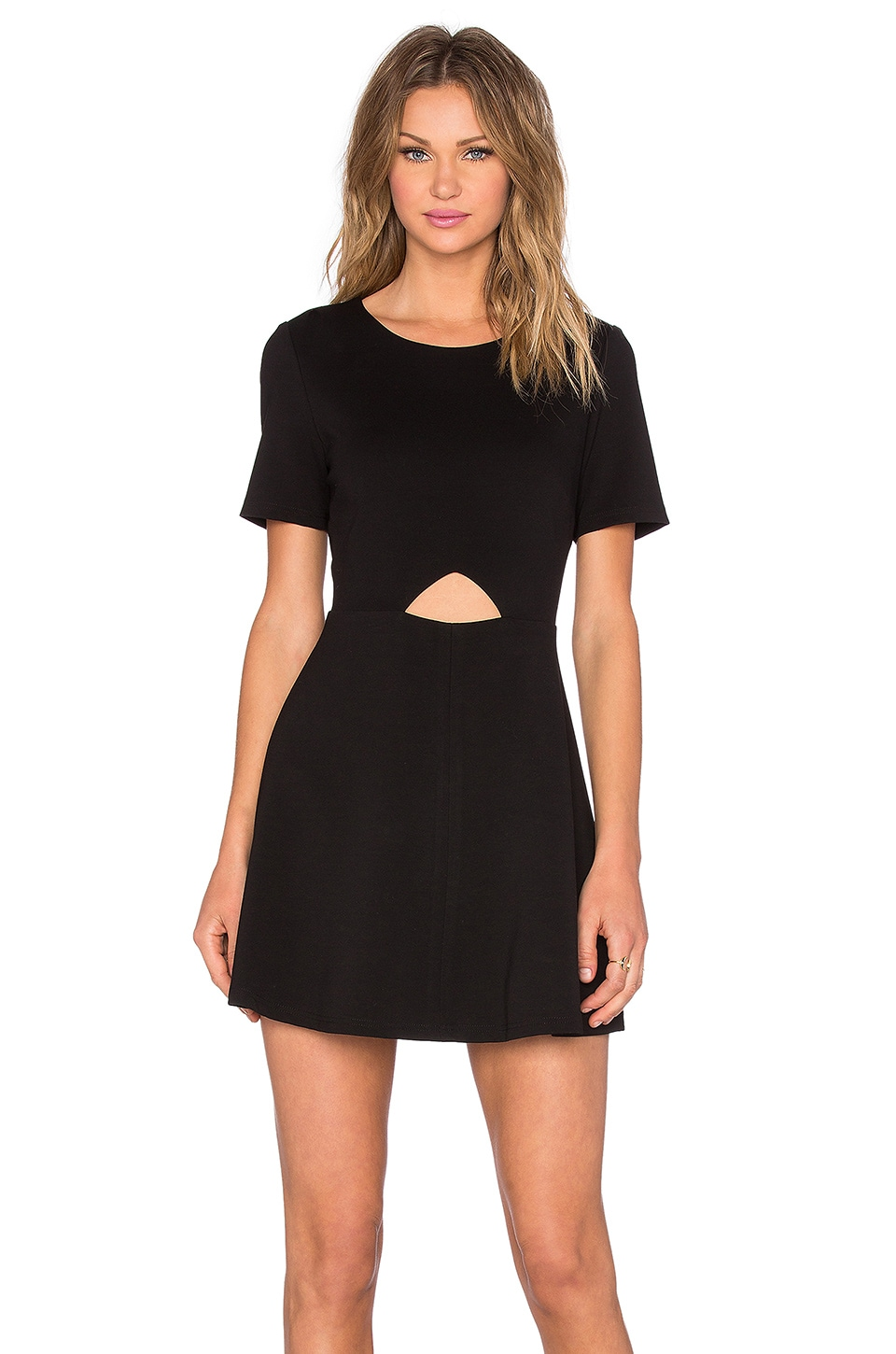 Cut Out Fit & Flare Dress