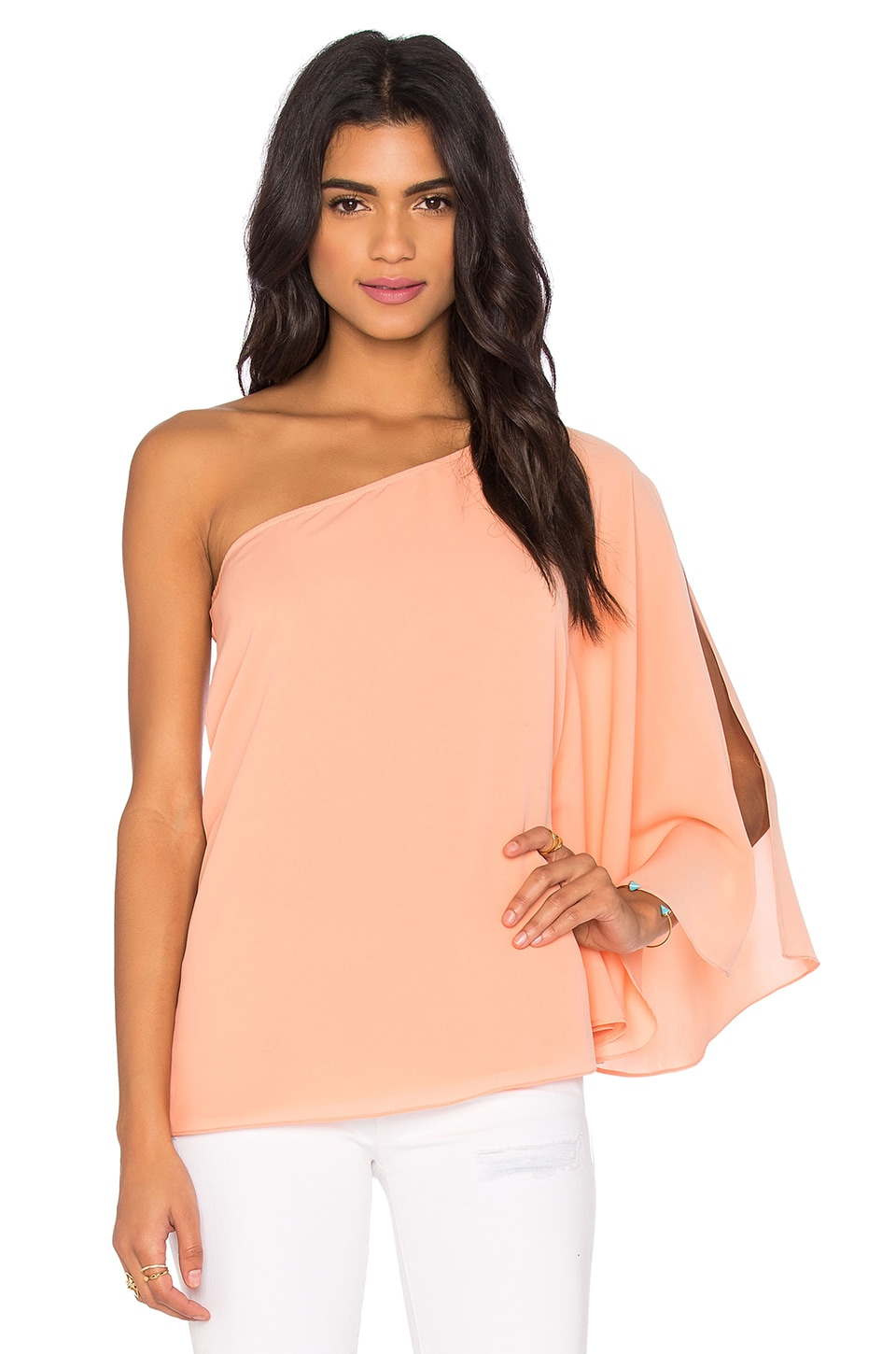 One Shoulder Winged Top