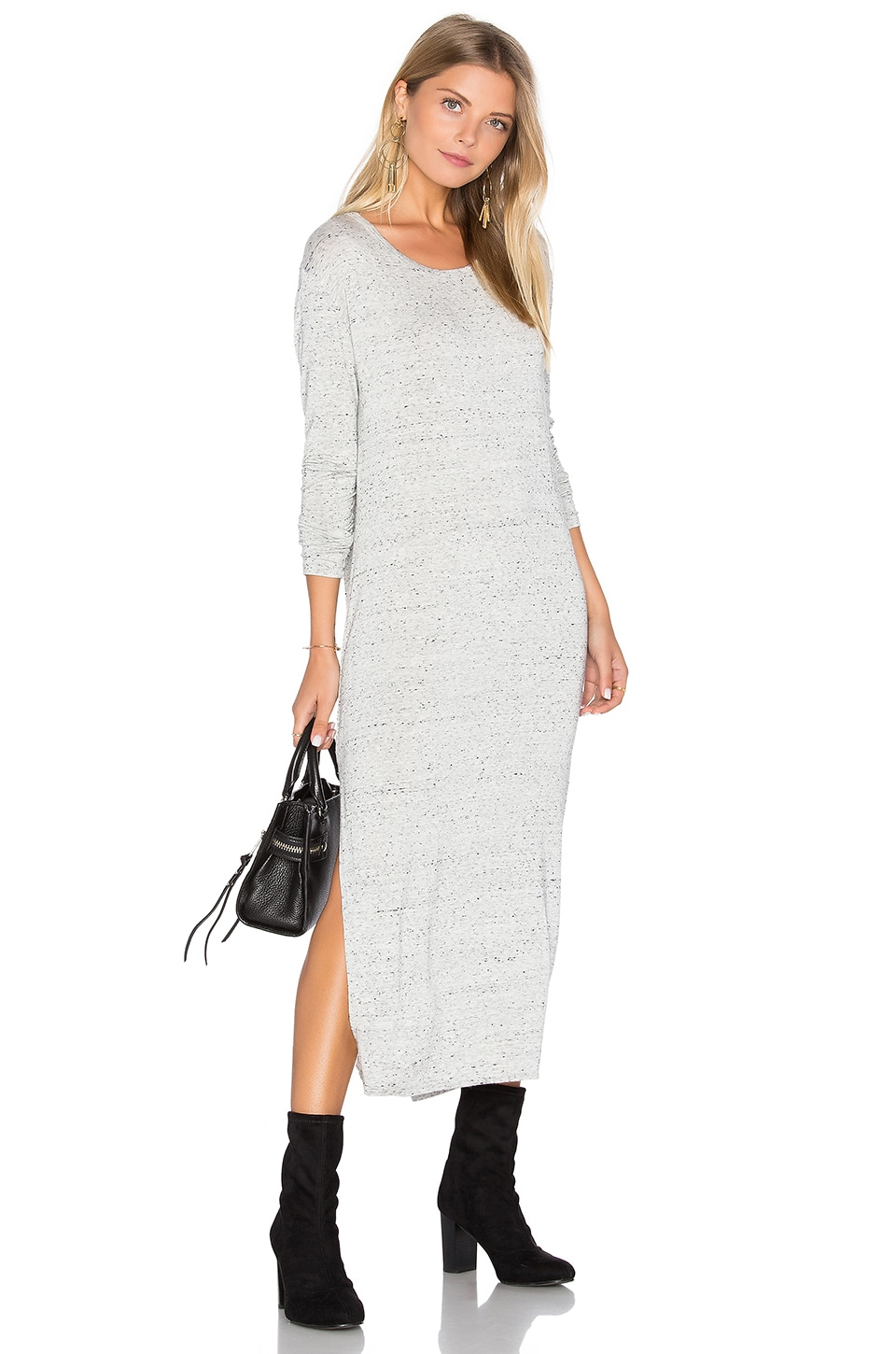 Side Slit Long Sleeve Dress