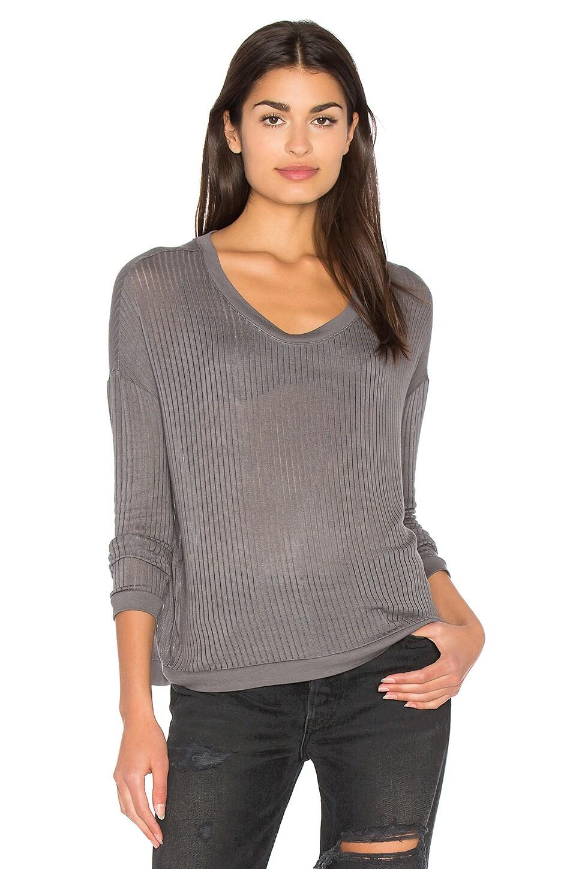 Sheer Rib Pullover Top