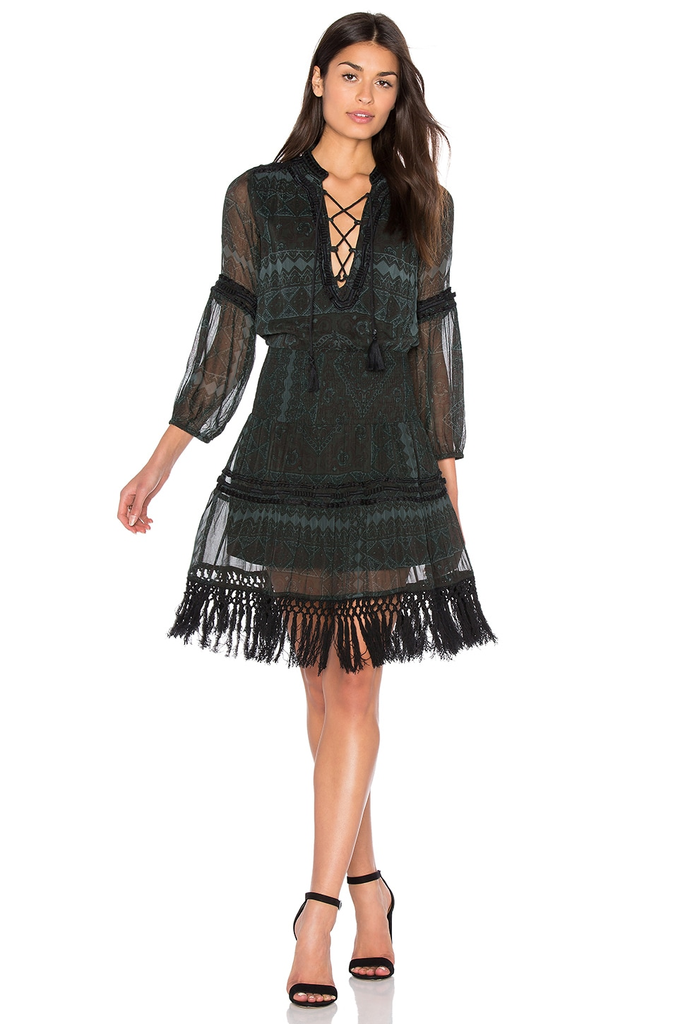 Montaigne Fringe Mini Dress
