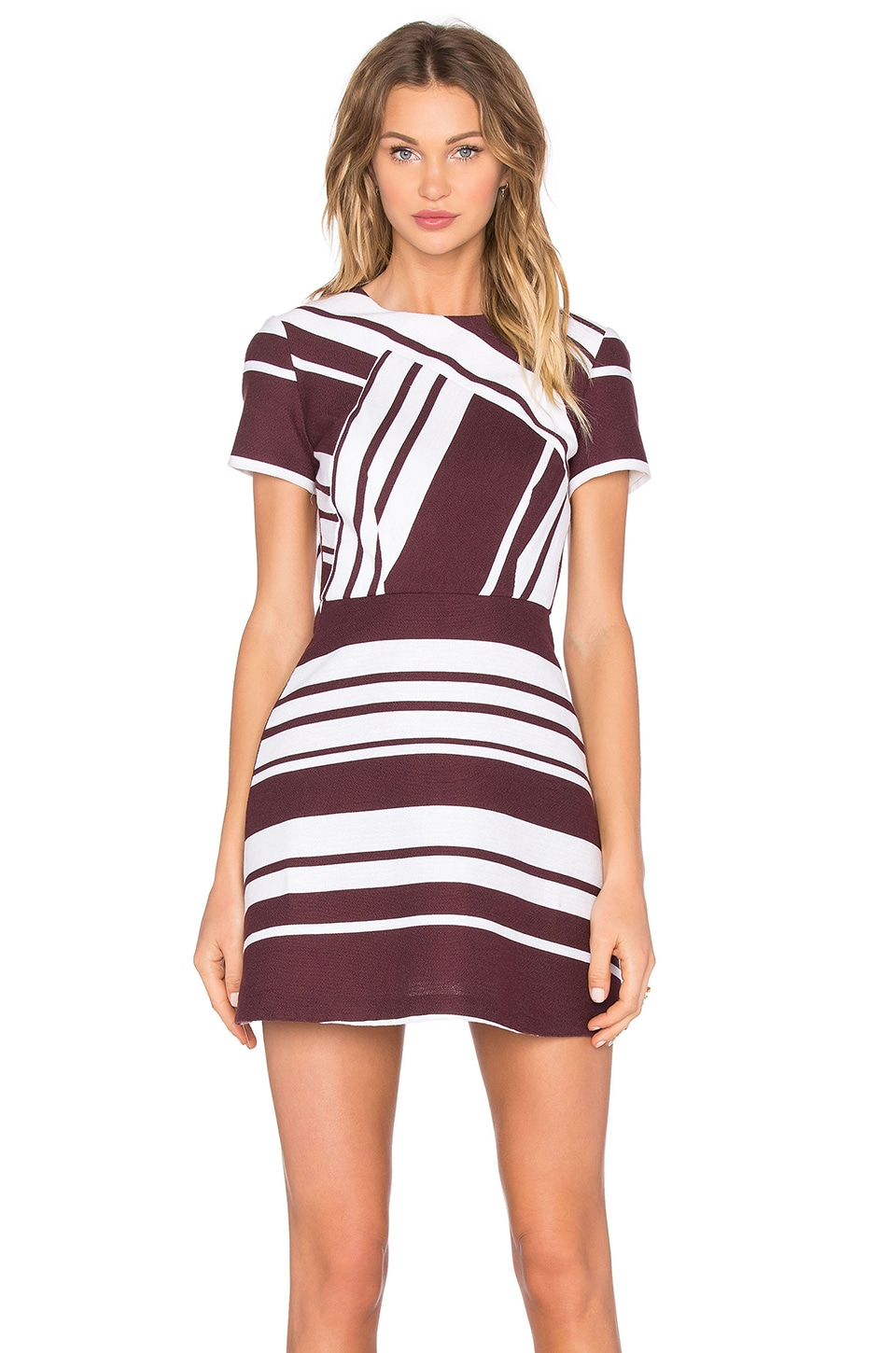 Pinot Stripe Mini Dress