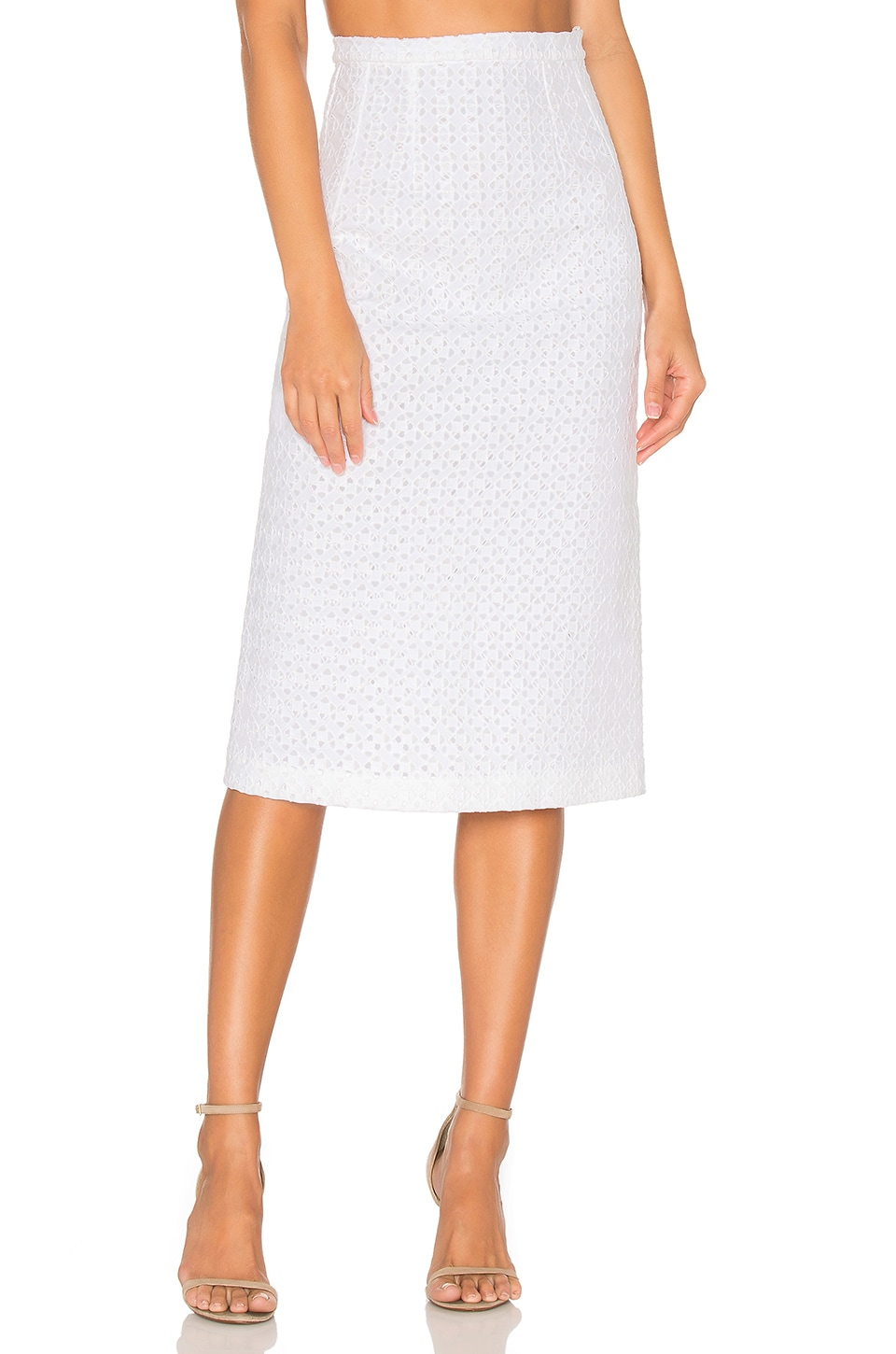 Marthe Lace Pencil Skirt