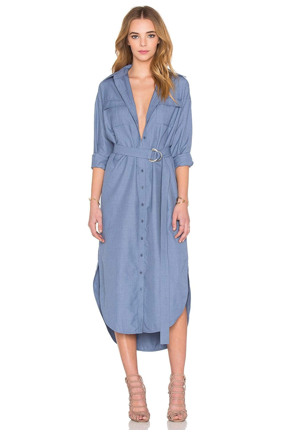 On Point Shirt Dress