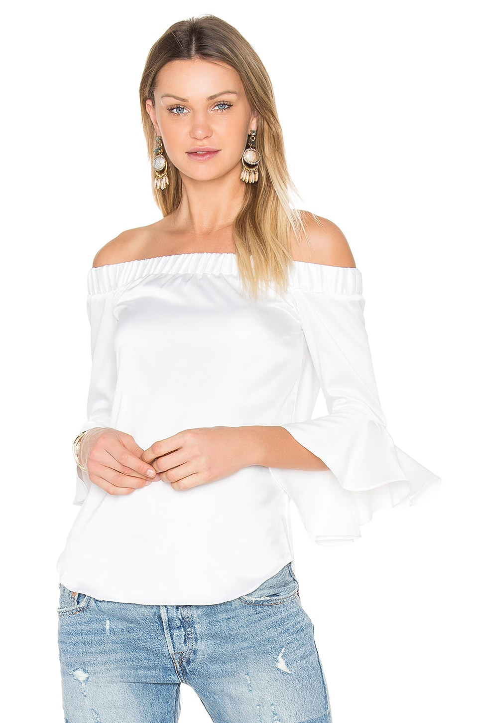Verdi Square Off Shoulder Top