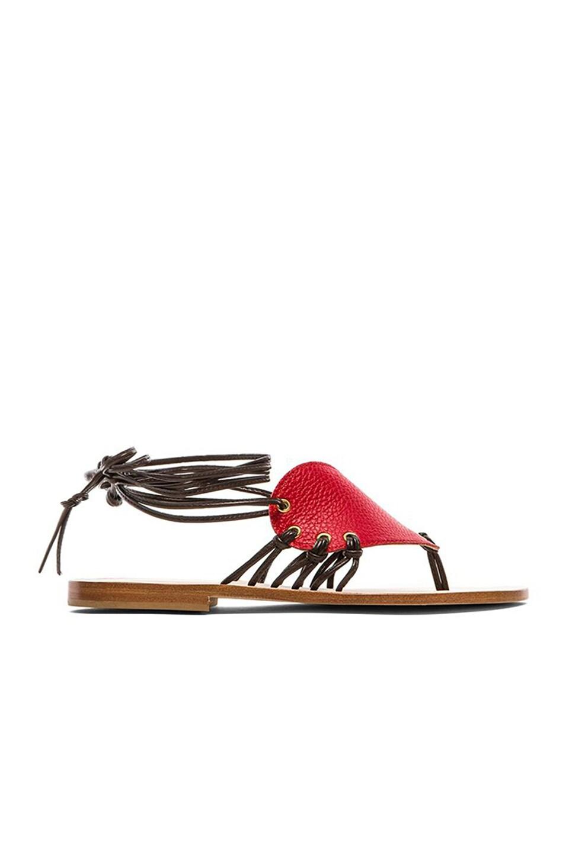 Madonnina Calfskin Heart Sandals