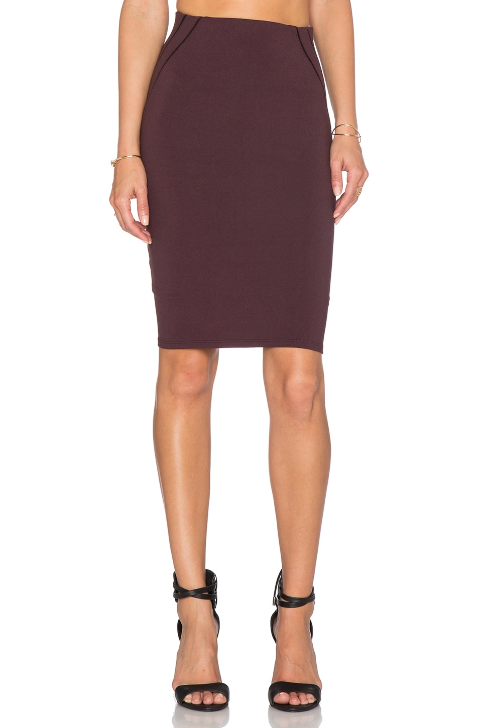 Stitched Detail Pencil Skirt
