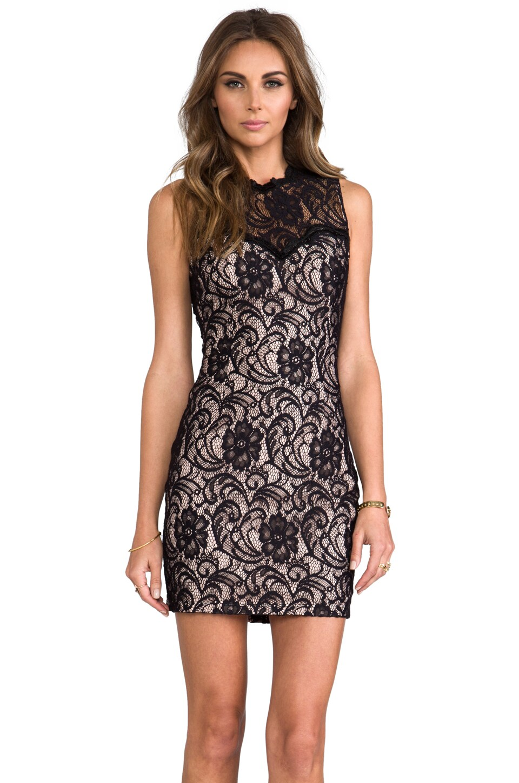 Abrianna Stretch Floral Lace Dress