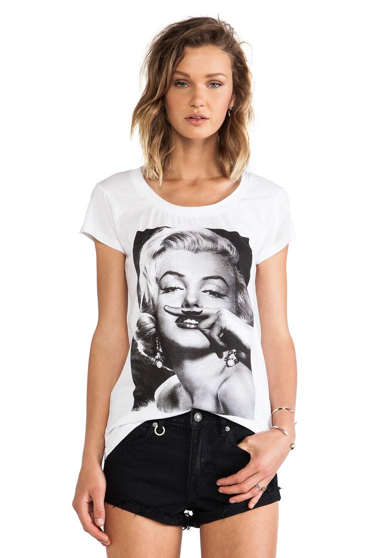 Marilyn Mustache Tee