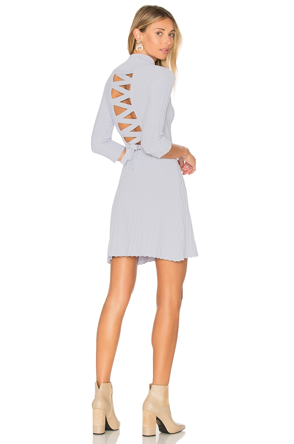 x KNITZ Simone Laced Back Sweater Dress