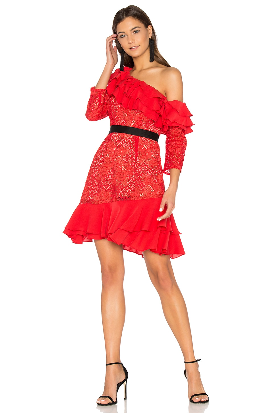 Chianti Off Shoulder Ruffle Dress