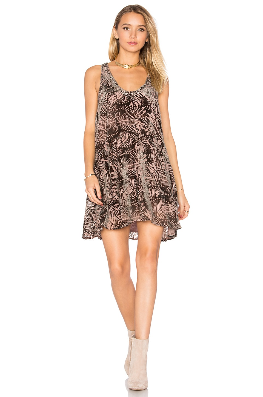 Ellie Burnout Velvet Dress