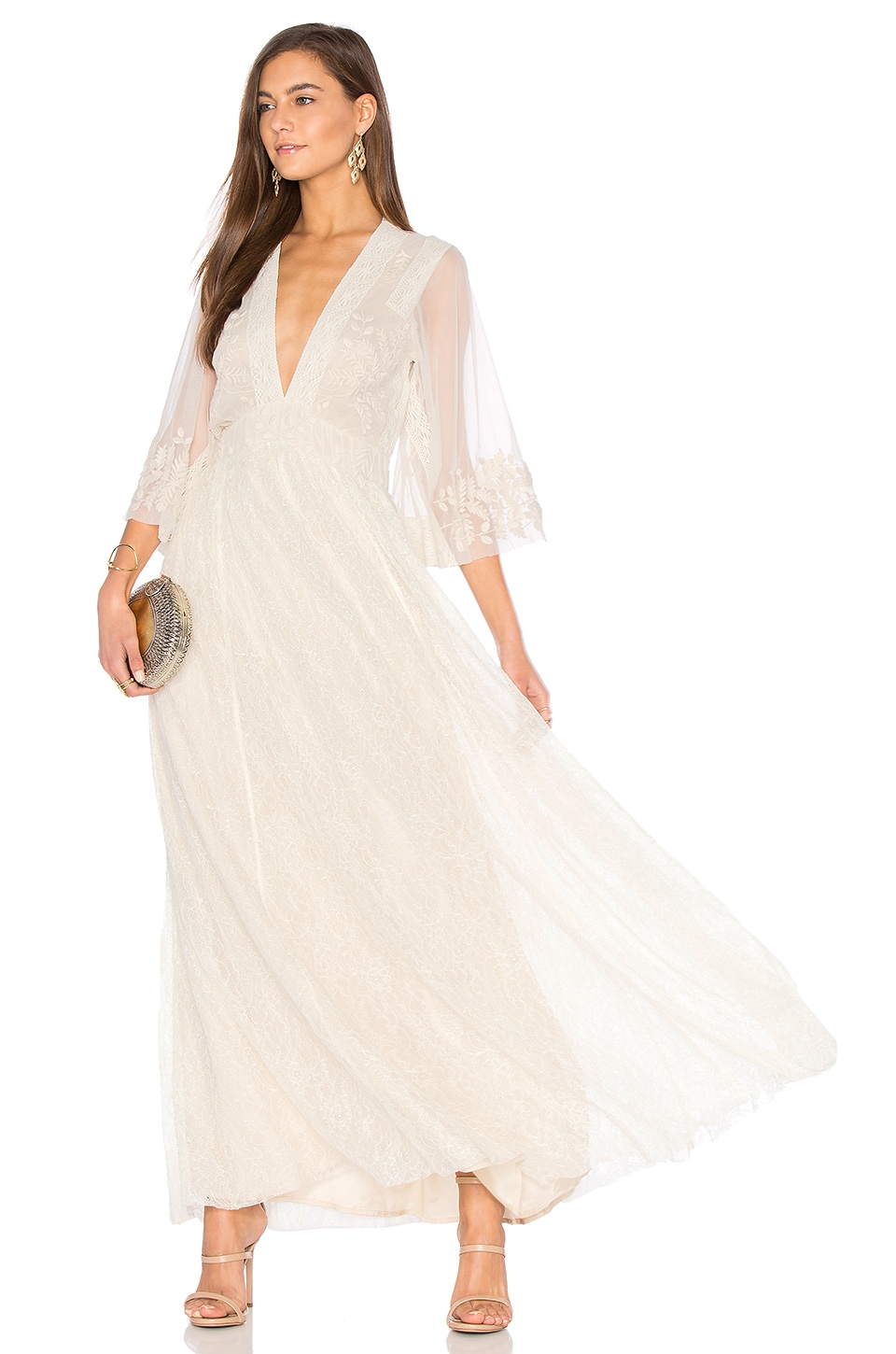 Eclair Embroidered Maxi Dress