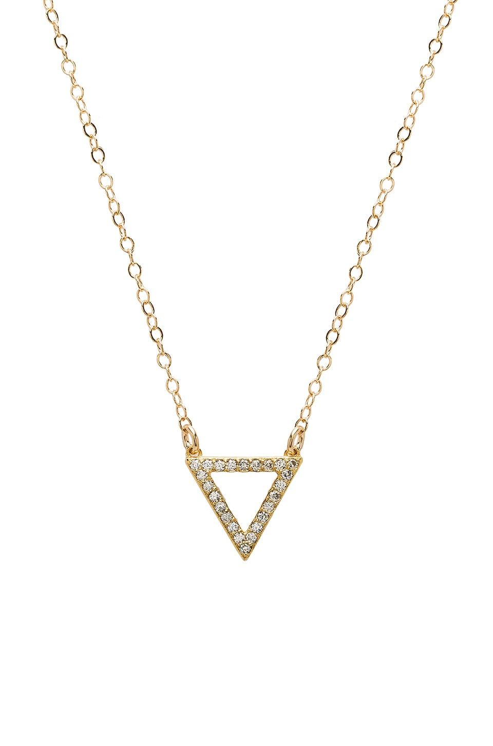 14K Plated Triangle Charm Necklace