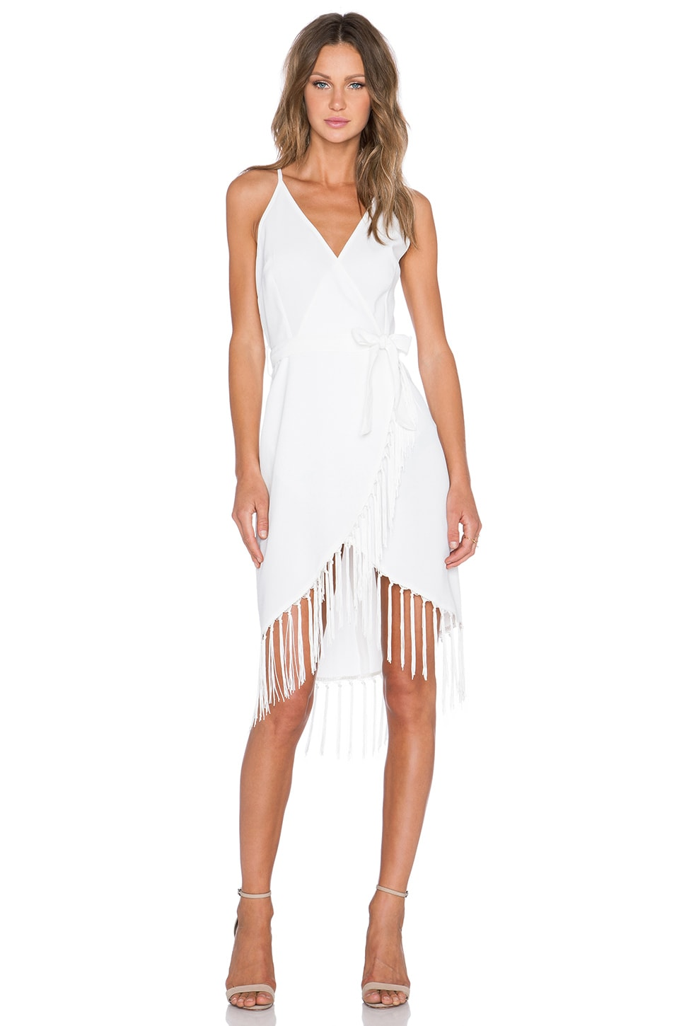 Fringe Wrap Dress