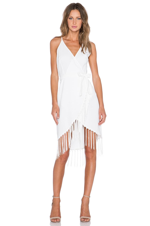Fringe Wrap Dress