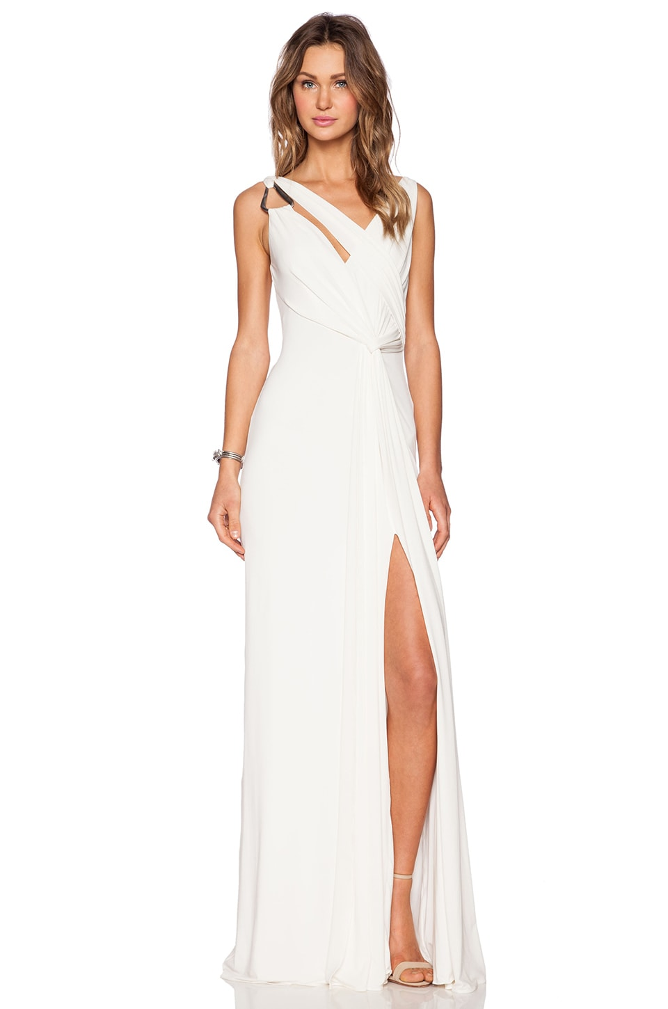 Draped Cowl Back Gown