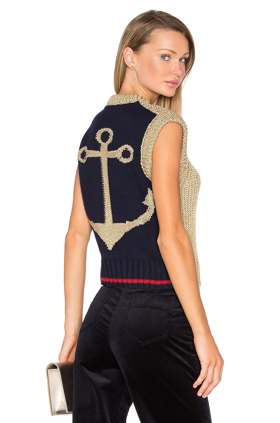 Knit Anchor Sleeveless Sweater