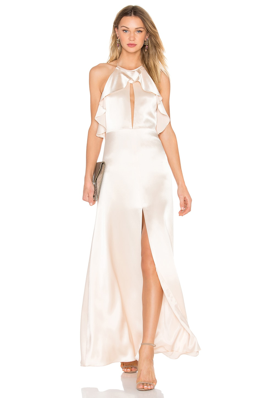Ruffle Halter Gown