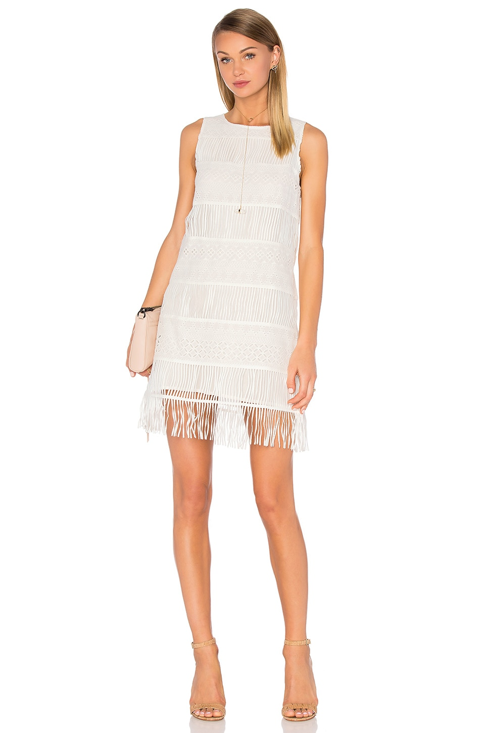 Sleeveless Fringe Mini Dress