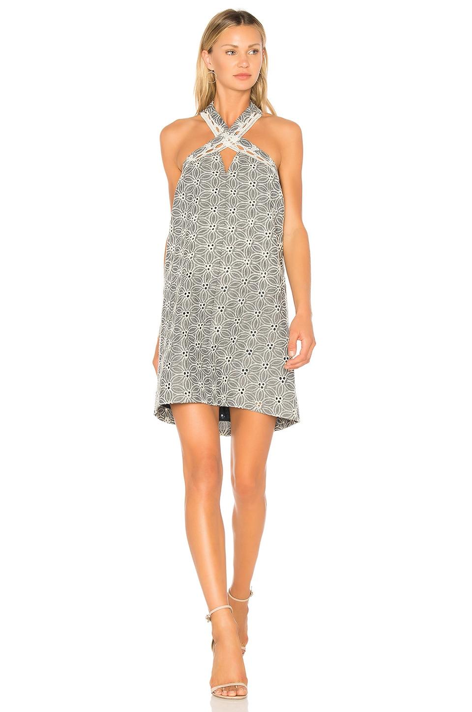 Lace Trim Halter Neck Dress