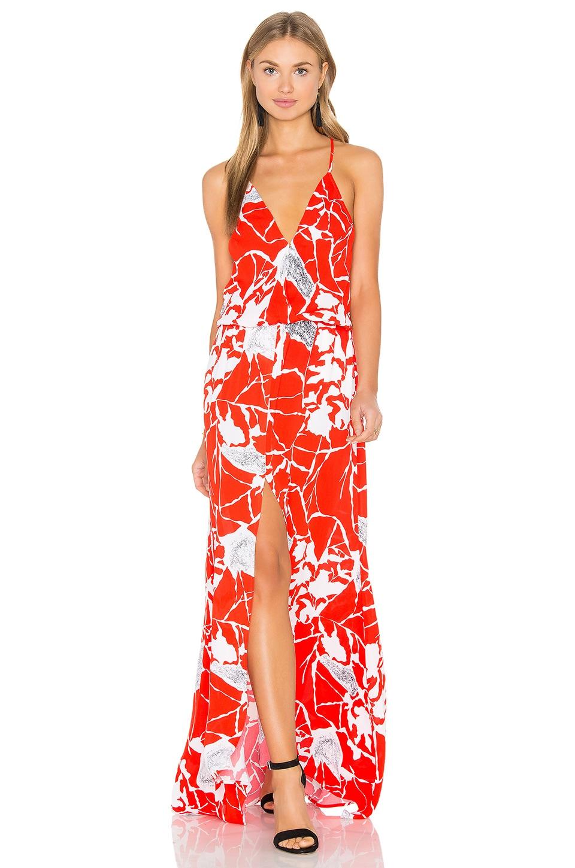 Draco Print Maxi Dress