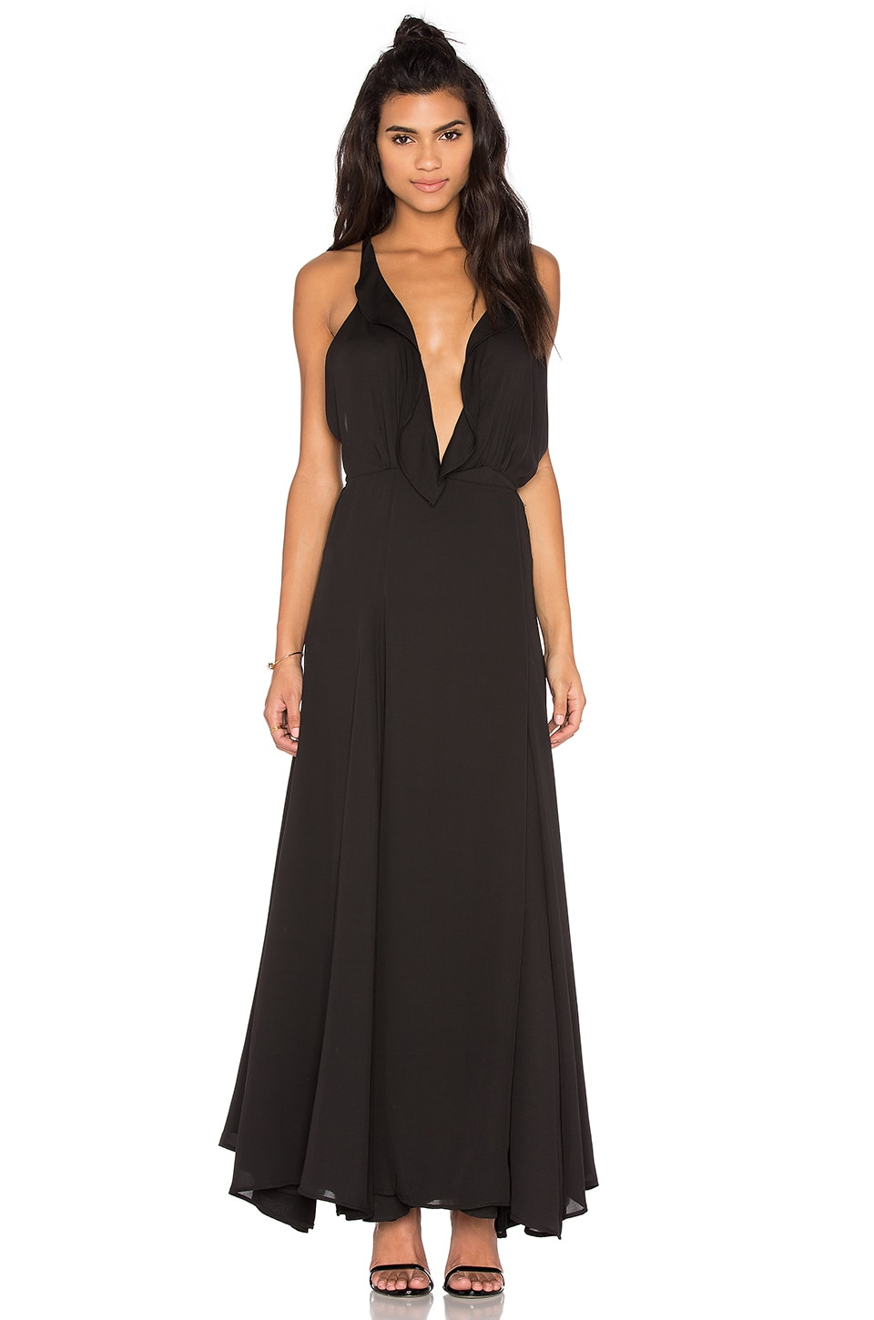 Ruffle Wrapped Maxi Dress
