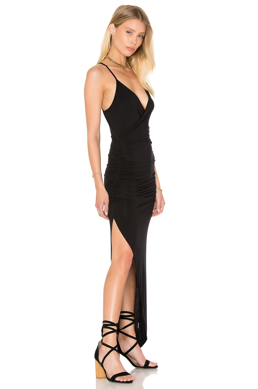 Asymmetrical Ruched Maxi Dress