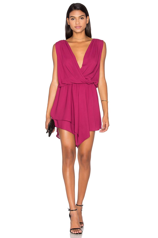 Asymmetrical Surplice Mini Dress