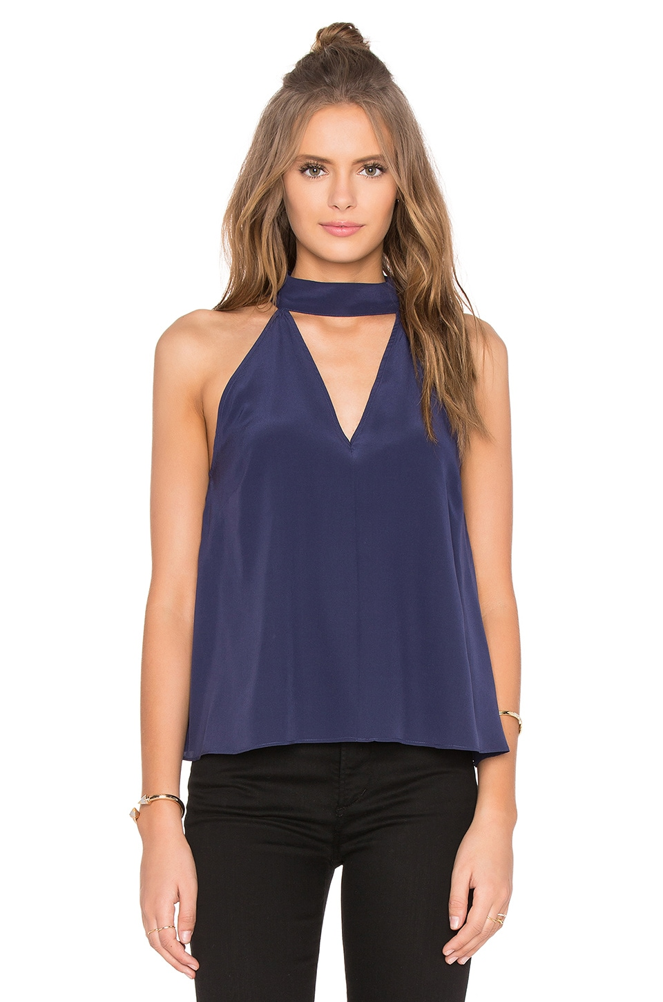 Stay Close Silk Top