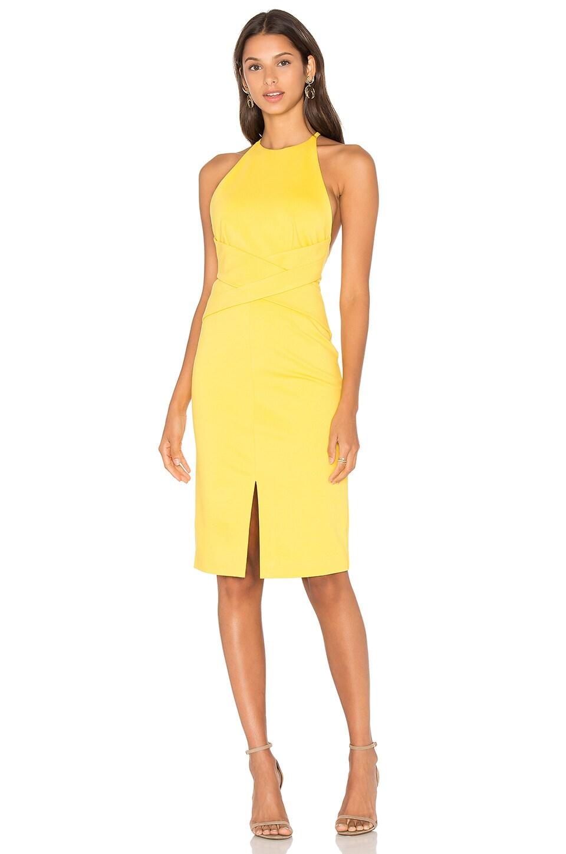 Wrap Front Plunge Back Detail Mini Dress