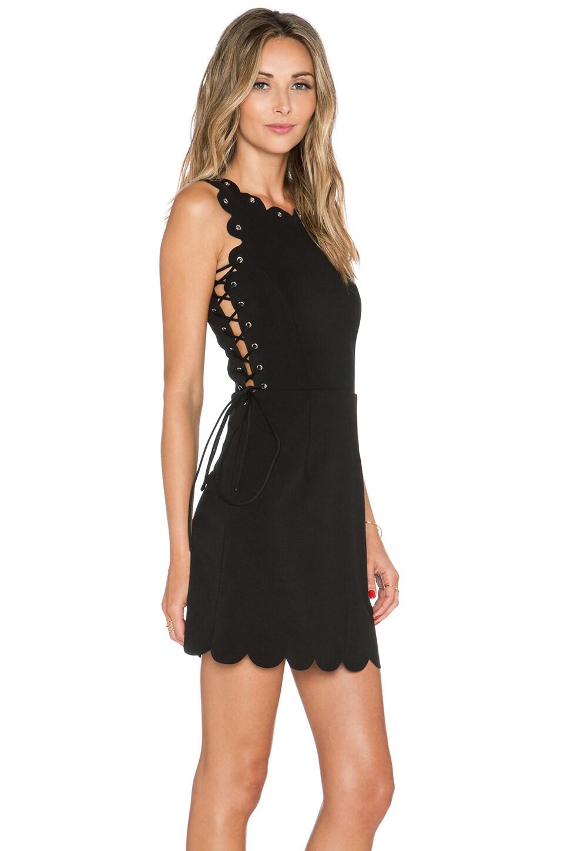 Scallop Lace Up Mini Dress