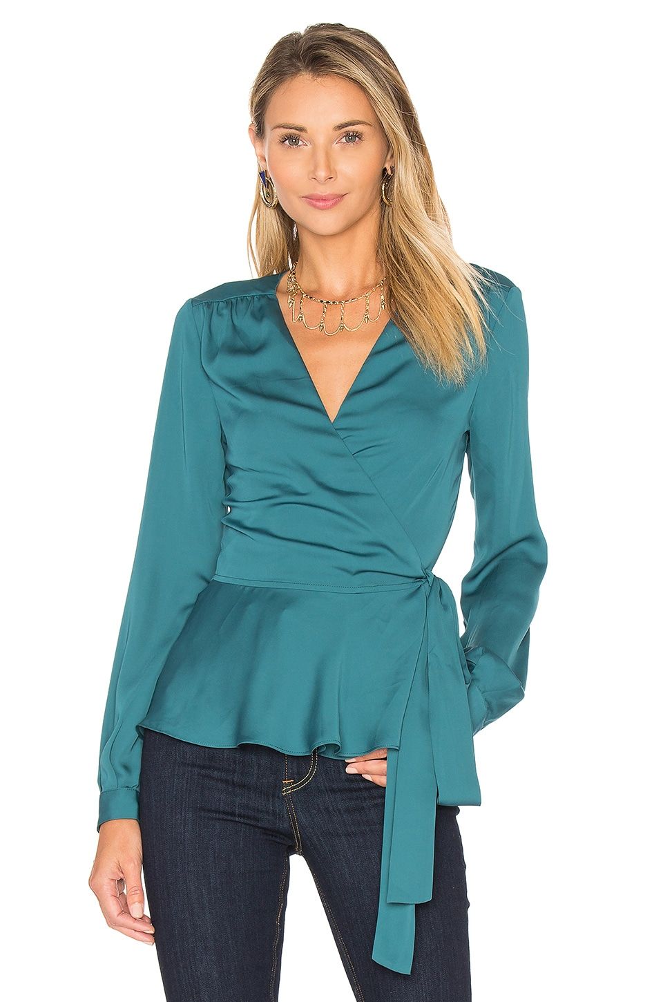 The Long Sleeve Wrap Blouse