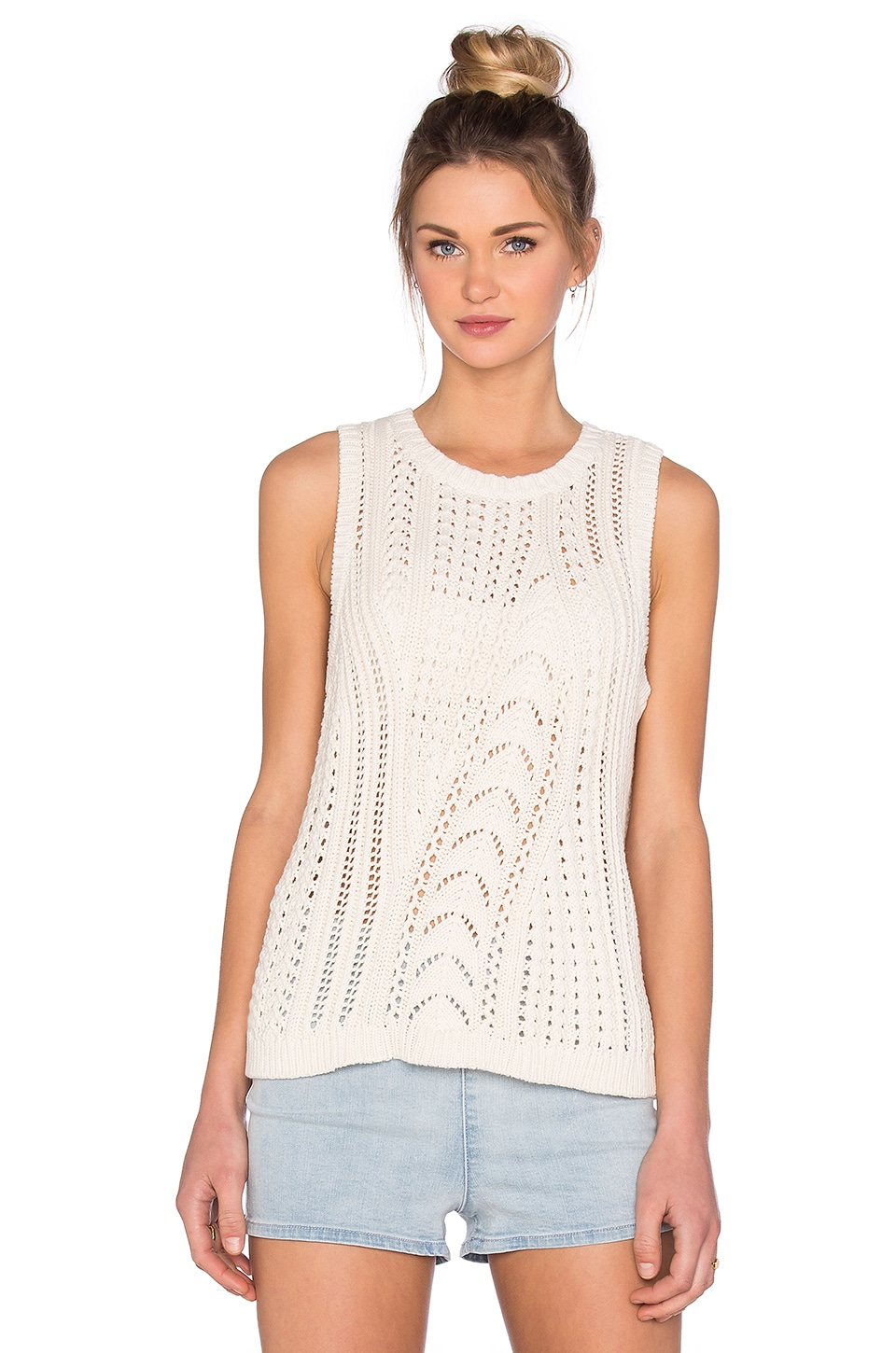 Cable Knit Vest Pullover