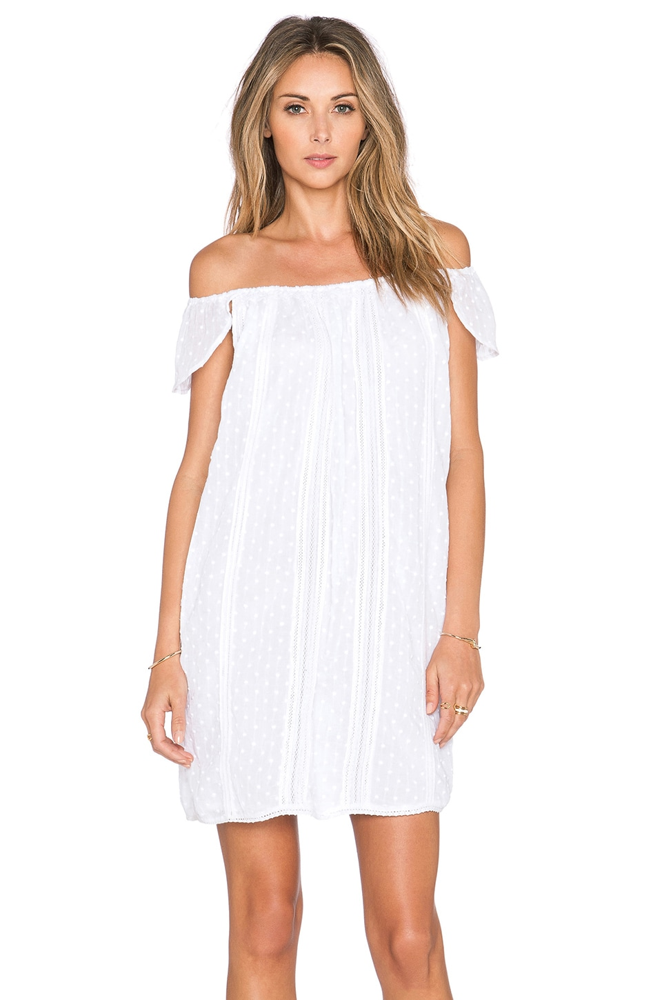 Alma Off Shoulder Dress Multi Lace