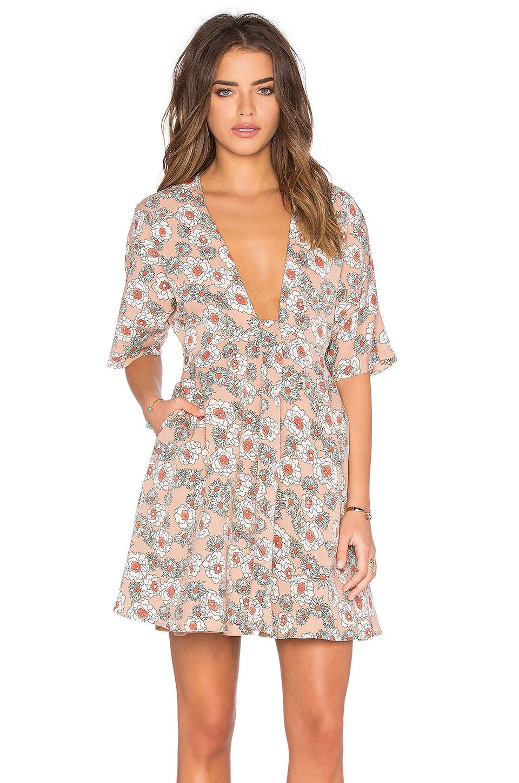 Dolman Short Sleeve Flare Dress