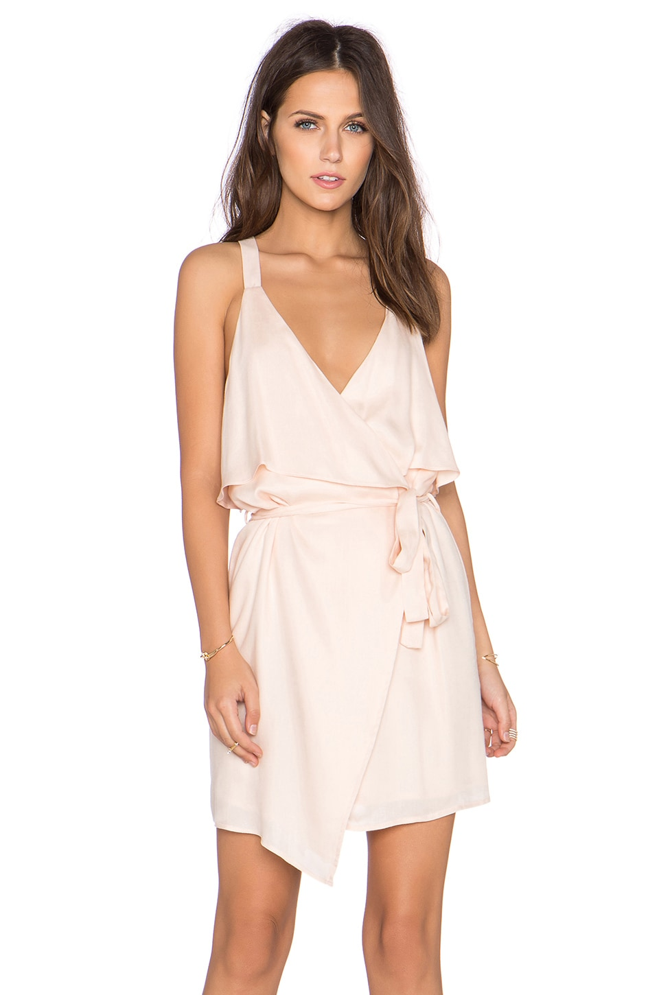 x REVOLVE Ruffle Front Wrap Dress