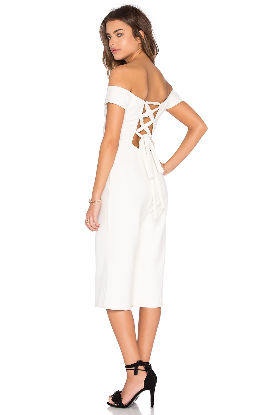 Ballerina Off Shoulder Cropped Jumpsuit