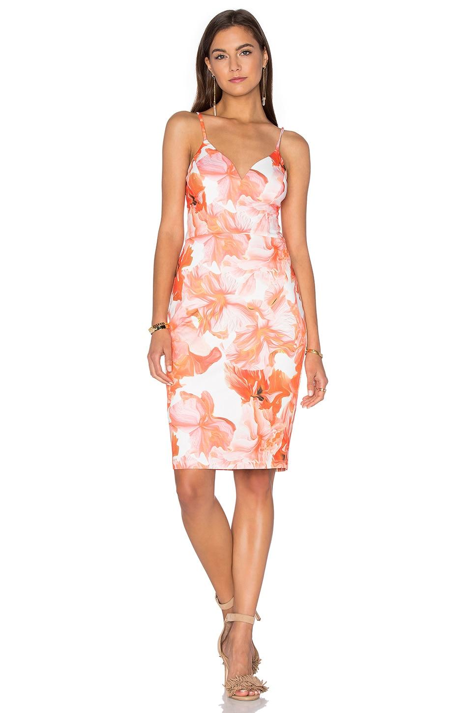 Marble Floral Midi Dress