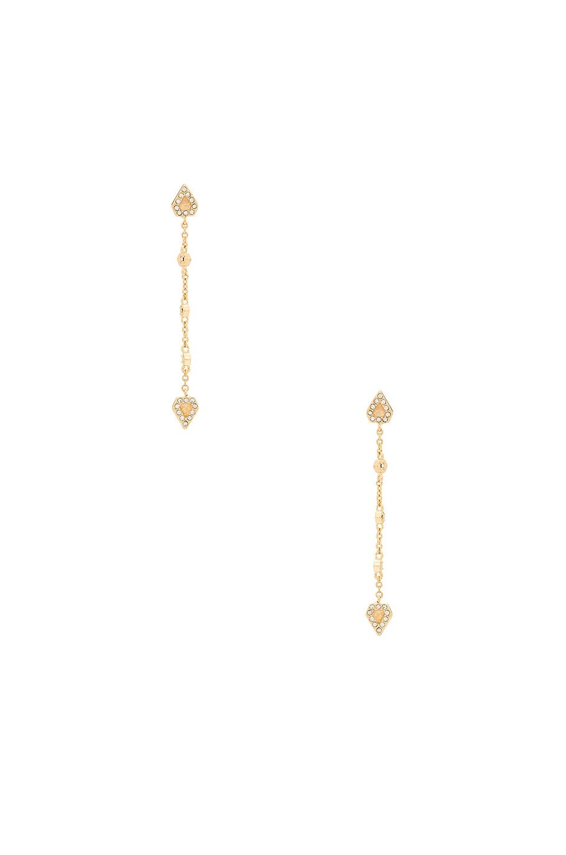 Moonstone Chain Drop Earrings