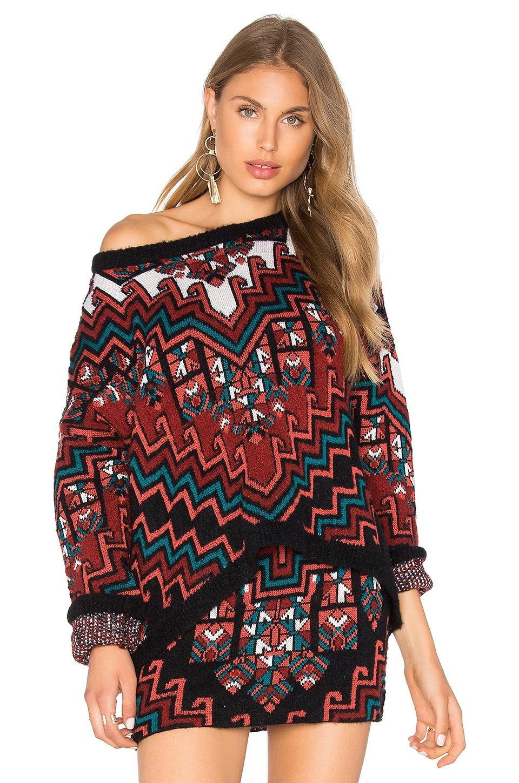 Bolnisi Rug Knit Drop Shoulder Sweater