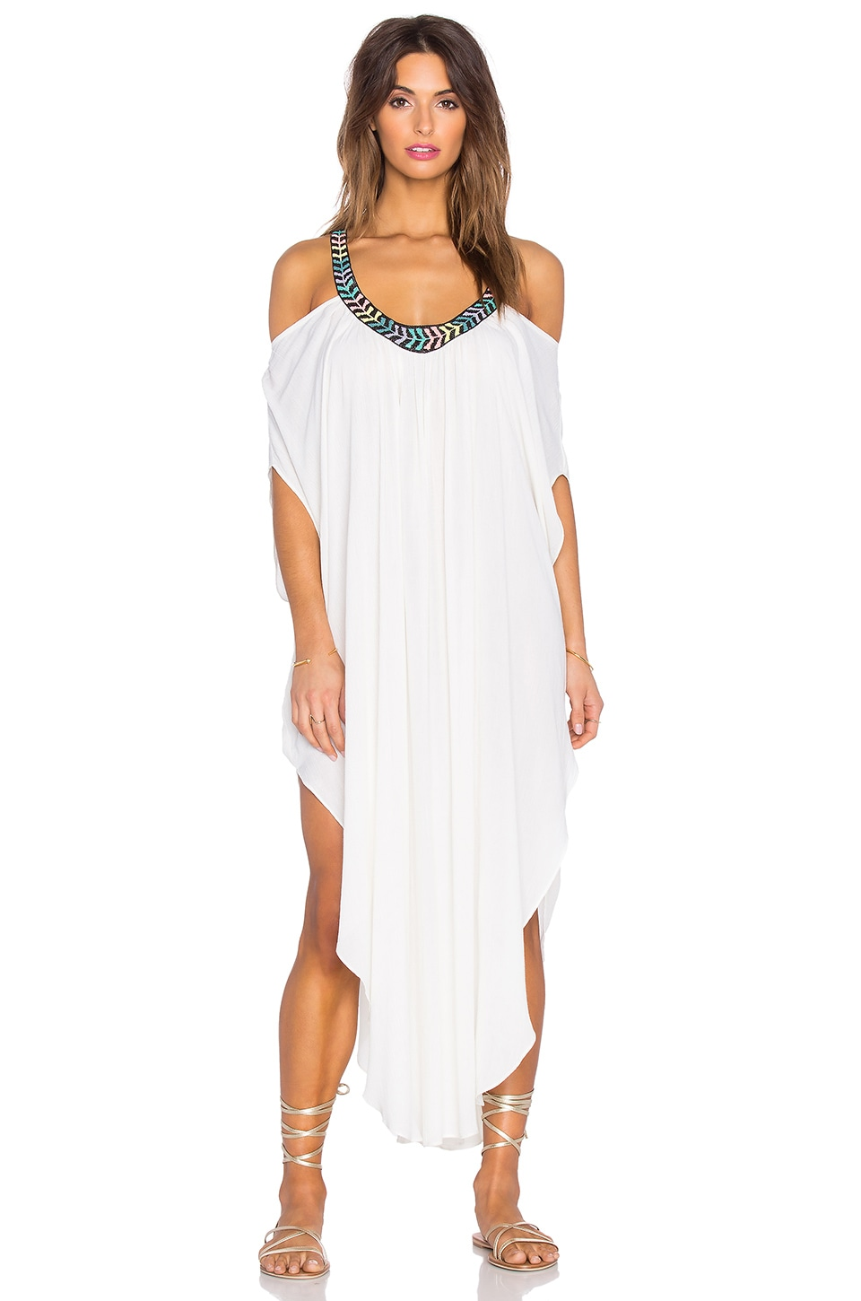 Embellished Off Shoulder Caftan