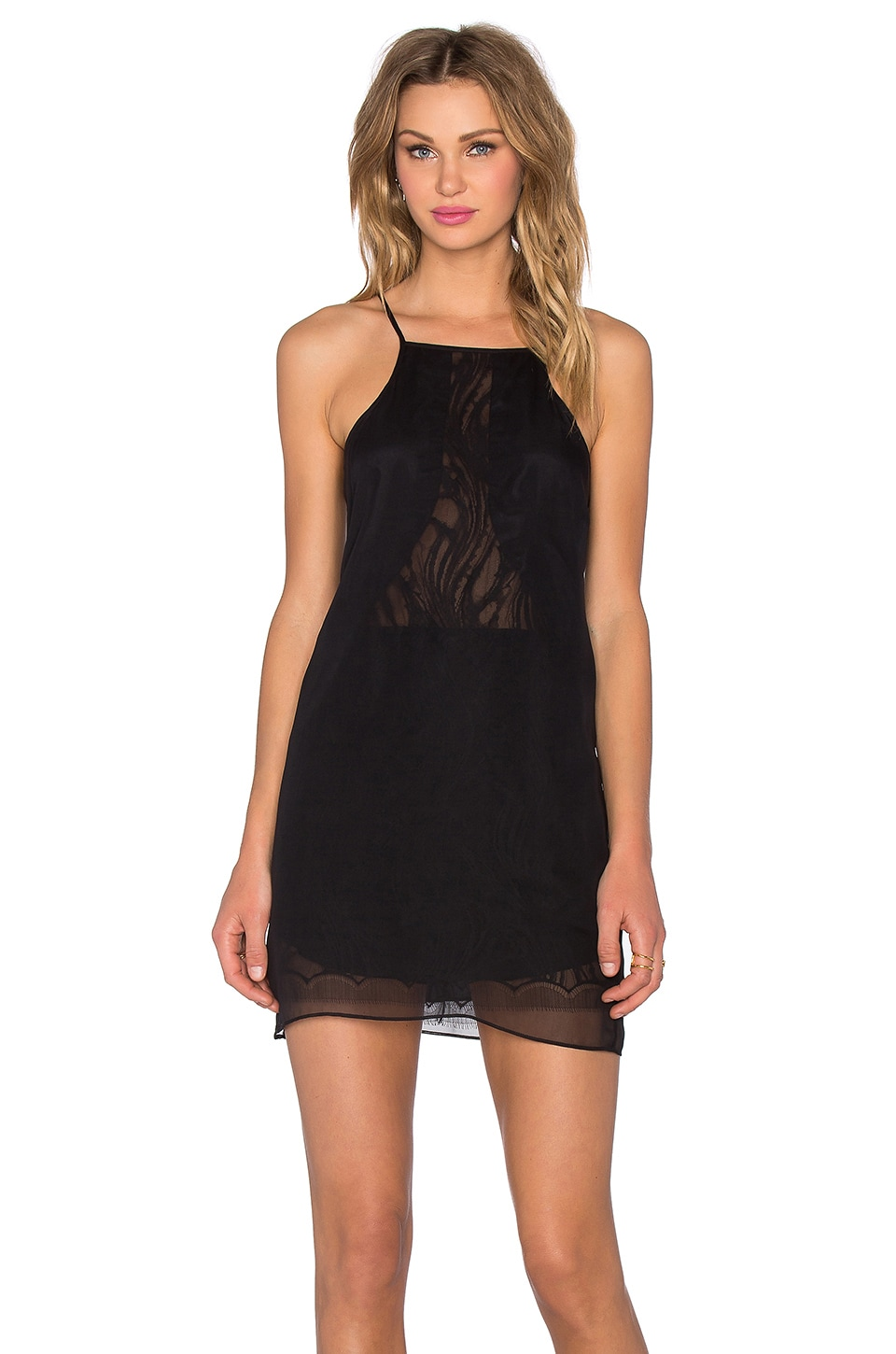 Chiffon Lace Slip Dress