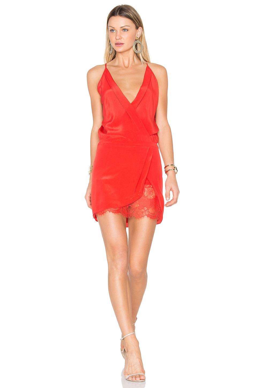 x REVOLVE Wrap Mini Dress
