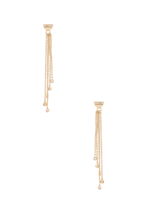 Half Circle Chain Drop Earrings