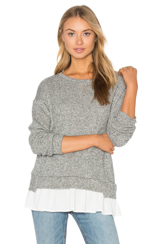 Ruffle Hem Sweatshirt